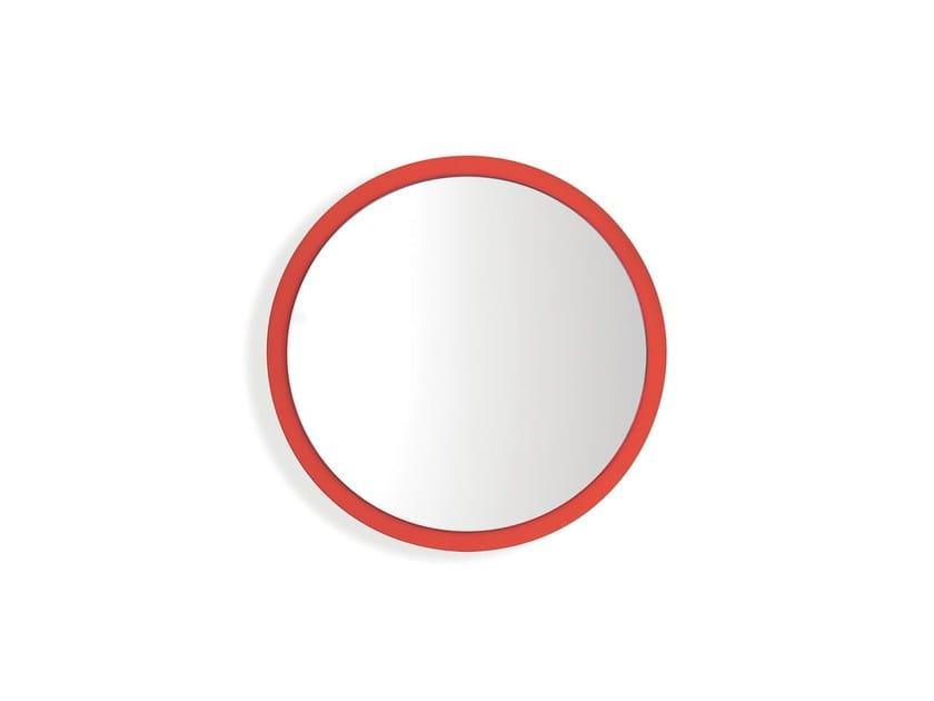 Wall-mounted framed mirror GIRO by Nidi