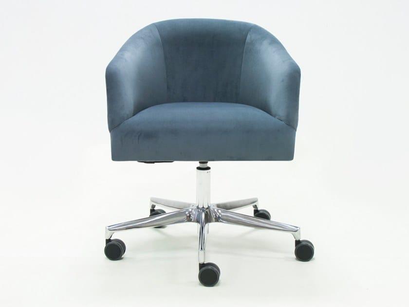 Sedia ufficio ad altezza regolabile in velour a 5 razze con braccioli GIRONA CREARTE | Sedia ufficio in velour by CREARTE COLLECTIONS