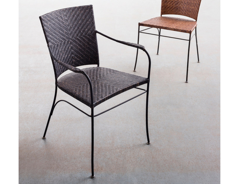 Rattan chair with armrests GIULIA | Chair with armrests by ELITE TO BE
