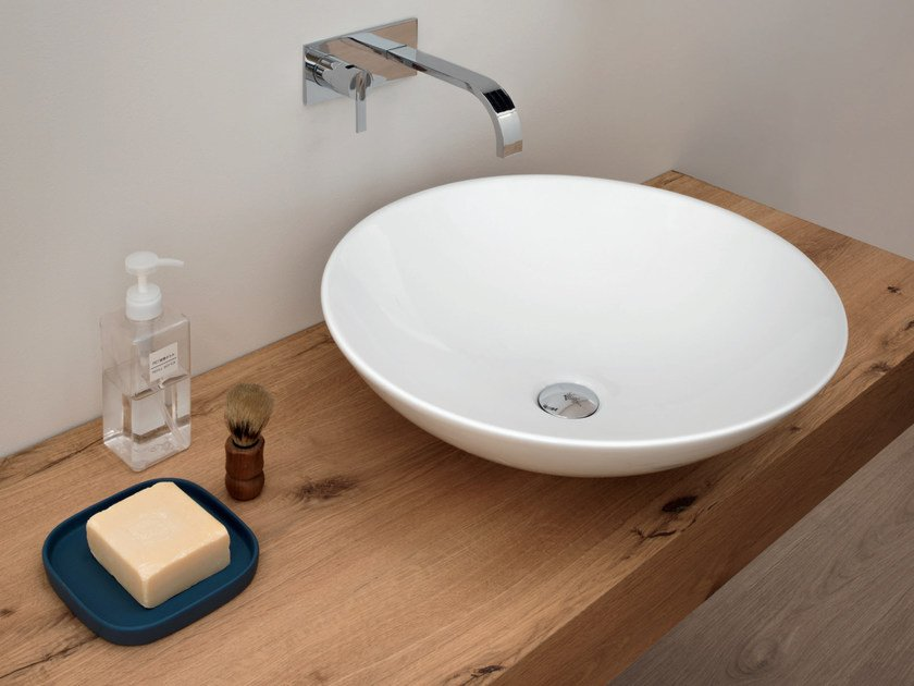Countertop round ceramic washbasin GIULIA by Nic Design