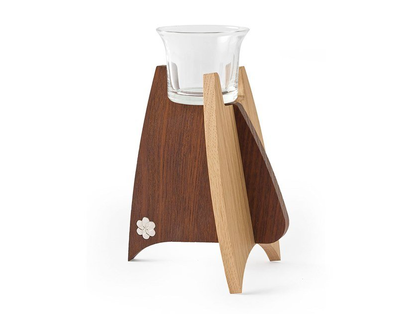 Solid wood plant pot / candle holder GJAT by KARN