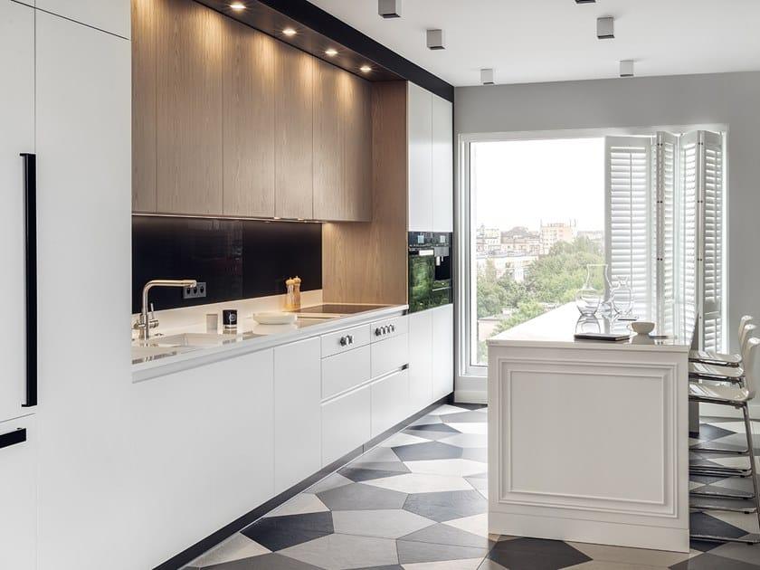 Wood veneer kitchen with island GLAM by Zajc