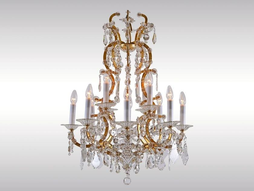 Classic style crystal chandelier GLASLUSTER 1920 by Woka Lamps Vienna