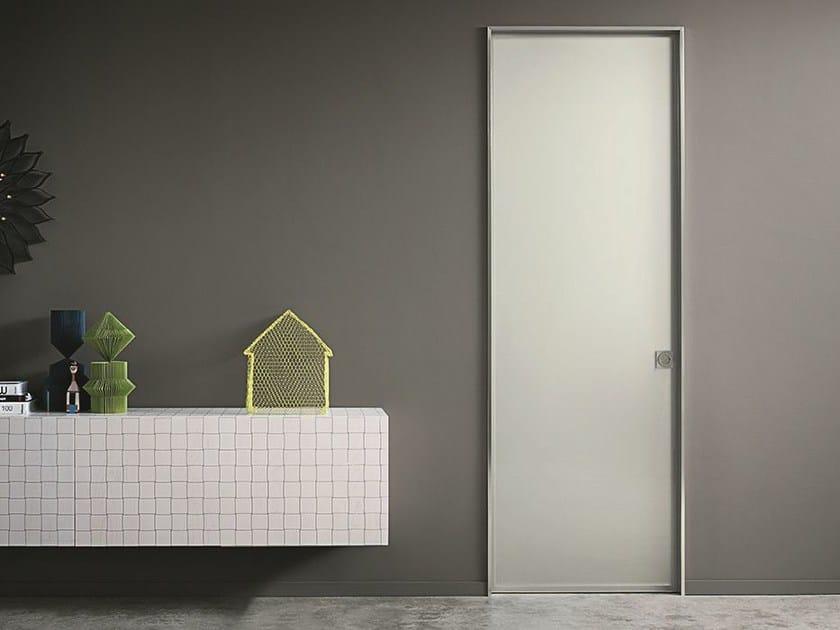 Glass and aluminium sliding door L41 | Glass and aluminium door by Lualdi