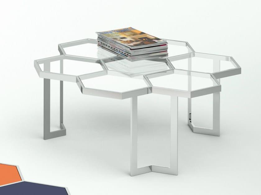 Tavolini In Vetro E Acciaio : Honey tavolino in acciaio e vetro collezione honey by altinox