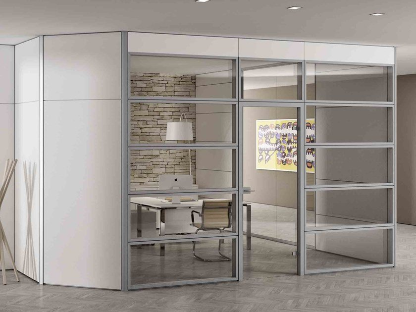 Glass office partition TAURUS | Glass movable wall by CUF Milano