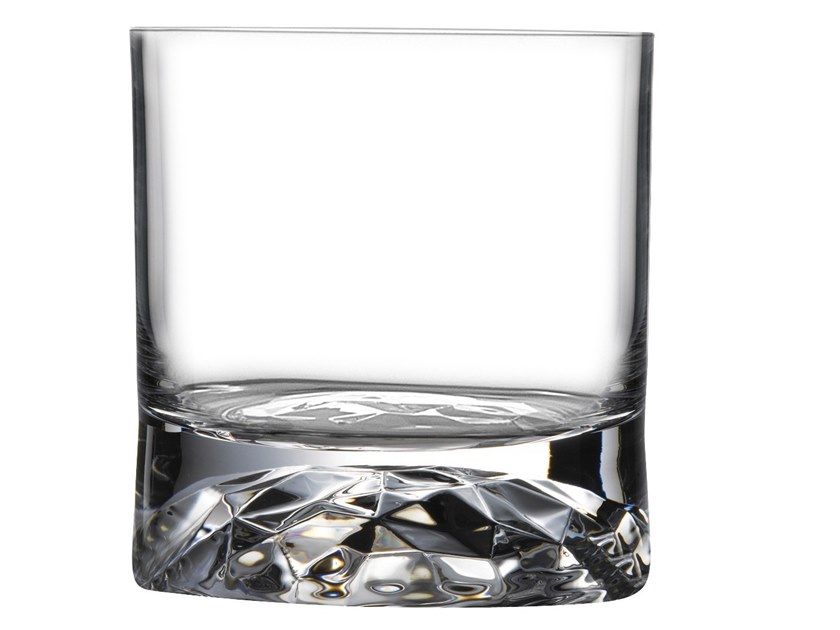 Set of 4 Whiskey Glasses with Ripple Effect CLUB | Glass by NUDE