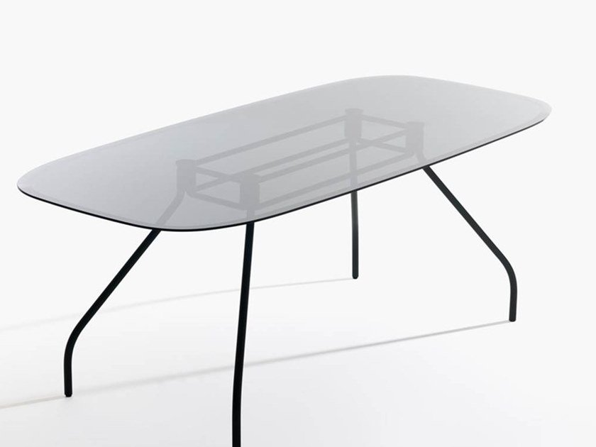 Glass office desk / meeting table SEMPIONE | Glass office desk by IOC