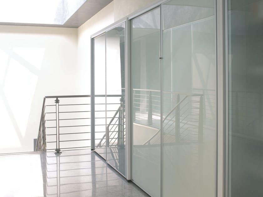 Modular Glass Office Storage Unit With Sliding Doors EKLISS | Glass Office  Storage Unit By Ultom