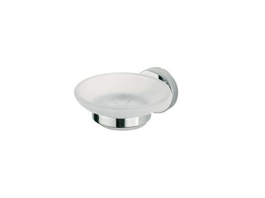 Portasapone a muro in vetro satinato FORUM | Portasapone in vetro by INDA®