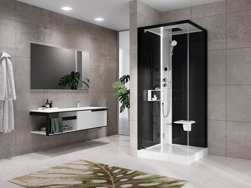 Corner multifunction shower cabin GLAX 2 2.0 G+F by NOVELLINI