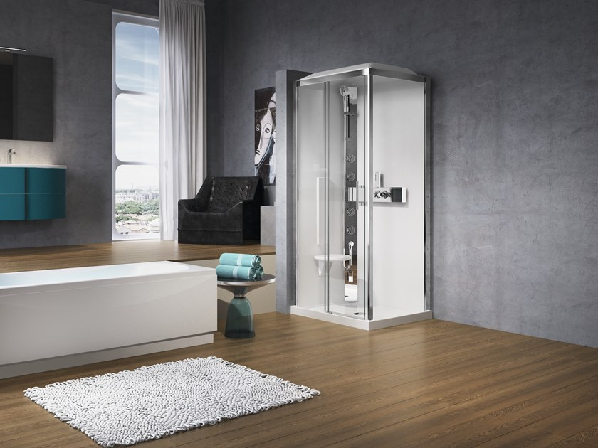 2 places Hydromassage shower cabin GLAX 2P 120X90 by NOVELLINI