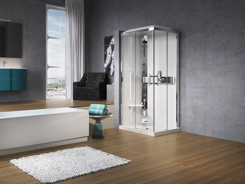 Rectangular Hydromassage shower cabin GLAX A 100x80 by NOVELLINI