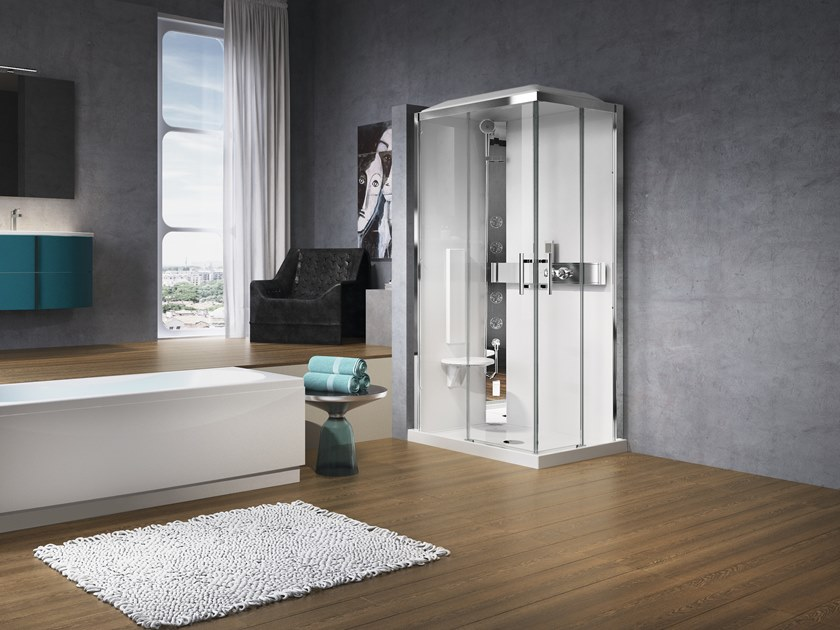 Rectangular Hydromassage shower cabin GLAX A 100X70 by NOVELLINI