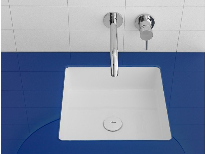 Undermount square Ceramilux® washbasin GLAZE | Ceramilux® washbasin by INBANI