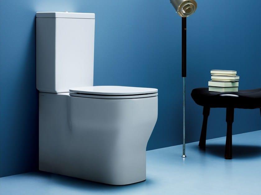 Close coupled ceramic toilet GLAZE | Close coupled toilet by AZZURRA sanitari