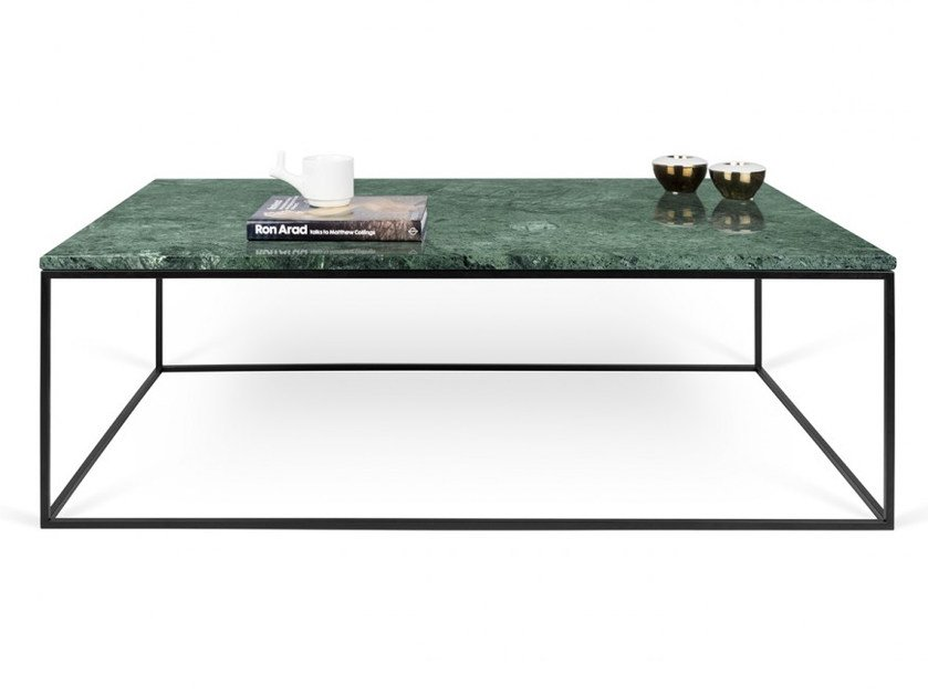 Rectangular marble coffee table GLEAM | Coffee table by TemaHome