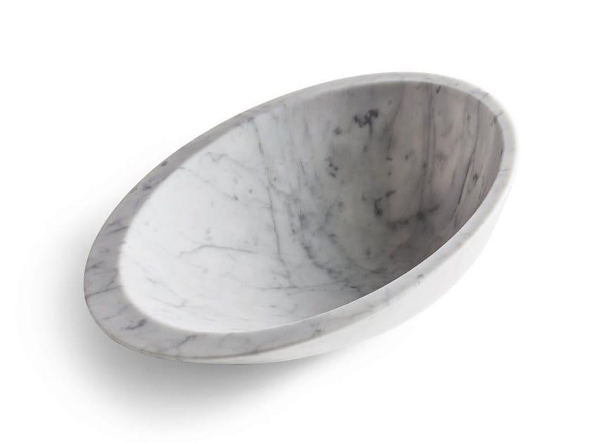 Carrara marble serving bowl Gli Oggetti by Poltrona Frau