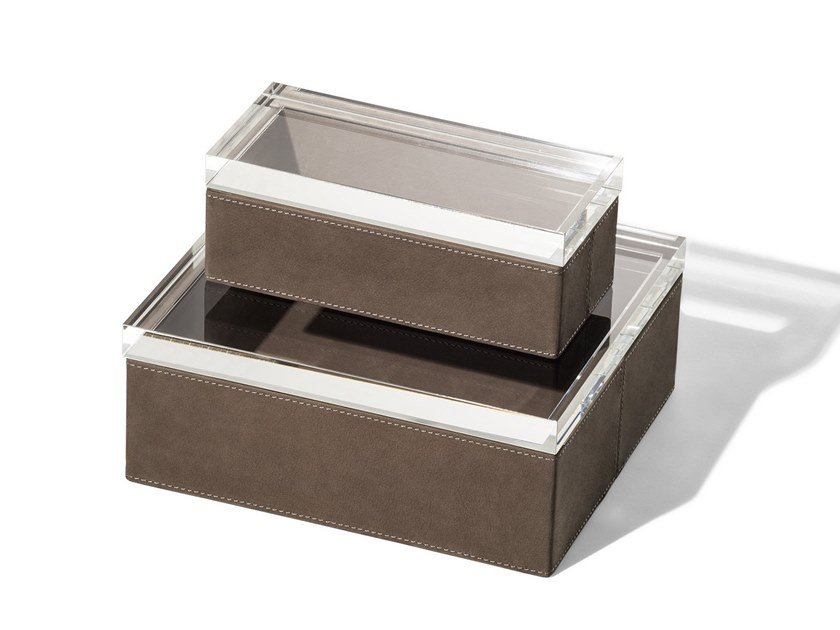 Leather storage box GLI OGGETTI - LEATHER CASE by Poltrona Frau
