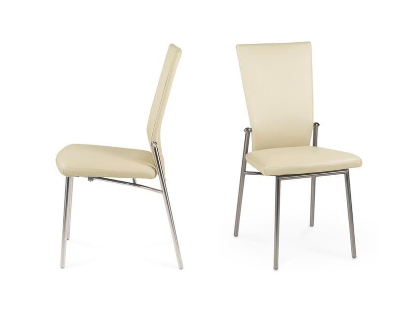 Sedia in pelle con schienale alto glisette by naos design studio d