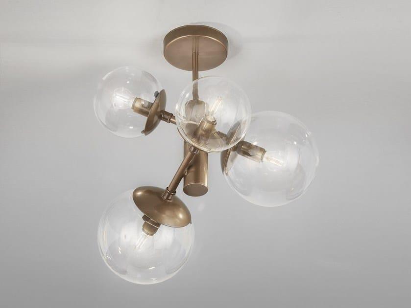 Metal ceiling lamp GLOBAL Ø 50 by Metal Lux