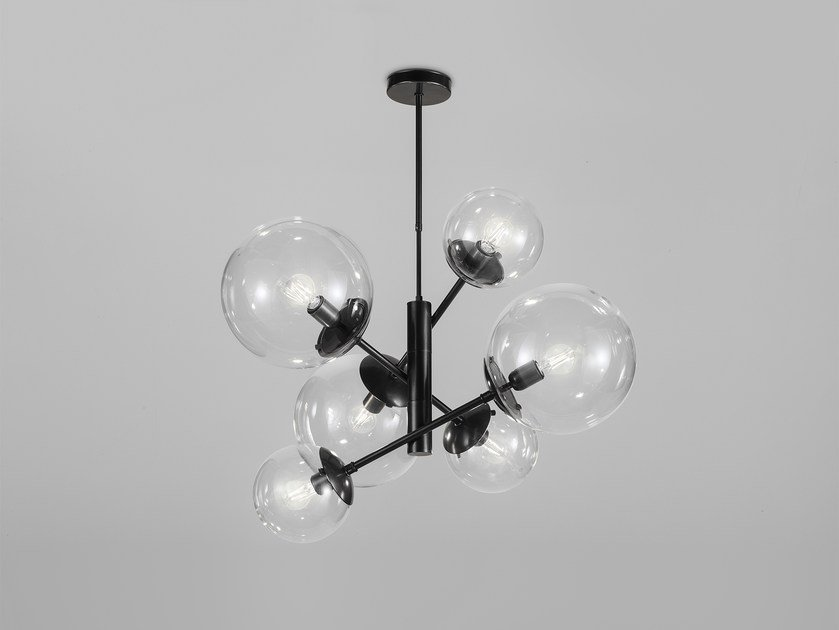 Metal pendant lamp GLOBAL Ø 80 - Ø 50 by Metal Lux