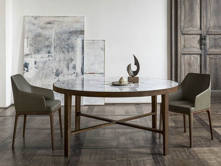 Round marble table with Lazy Susan GLOBE | Round table by ALIVAR