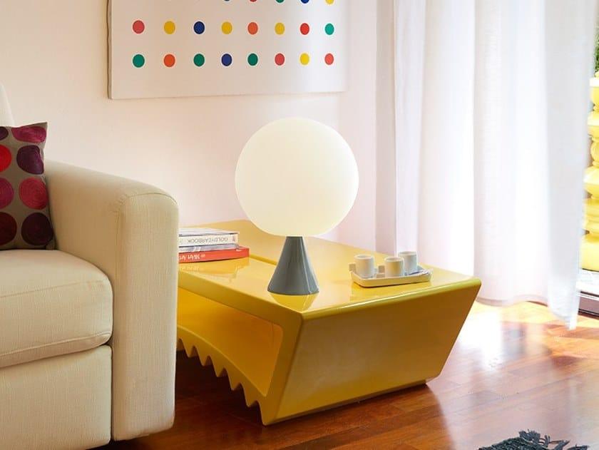 Polyethylene table lamp GLOBO STAND by SLIDE