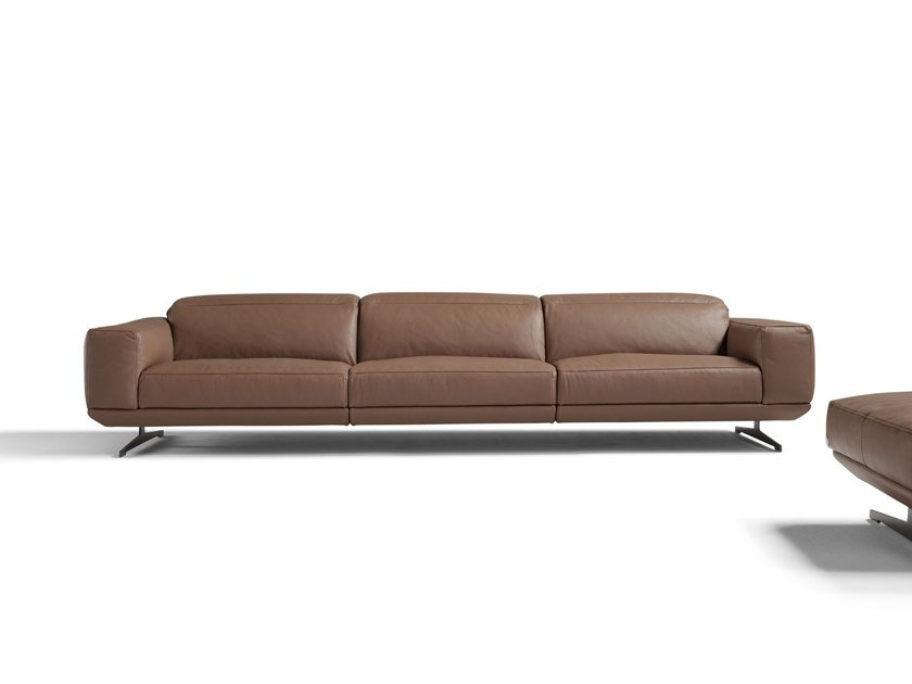 Recliner 3 Seater Leather Sofa Gloria By Egoitaliano