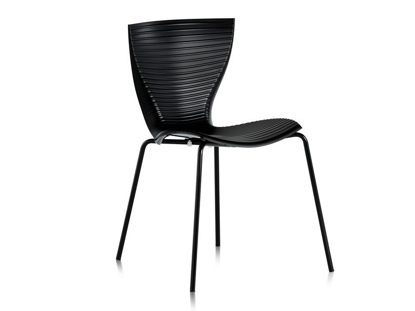 Stackable polypropylene chair GLORIA | Chair by SLIDE