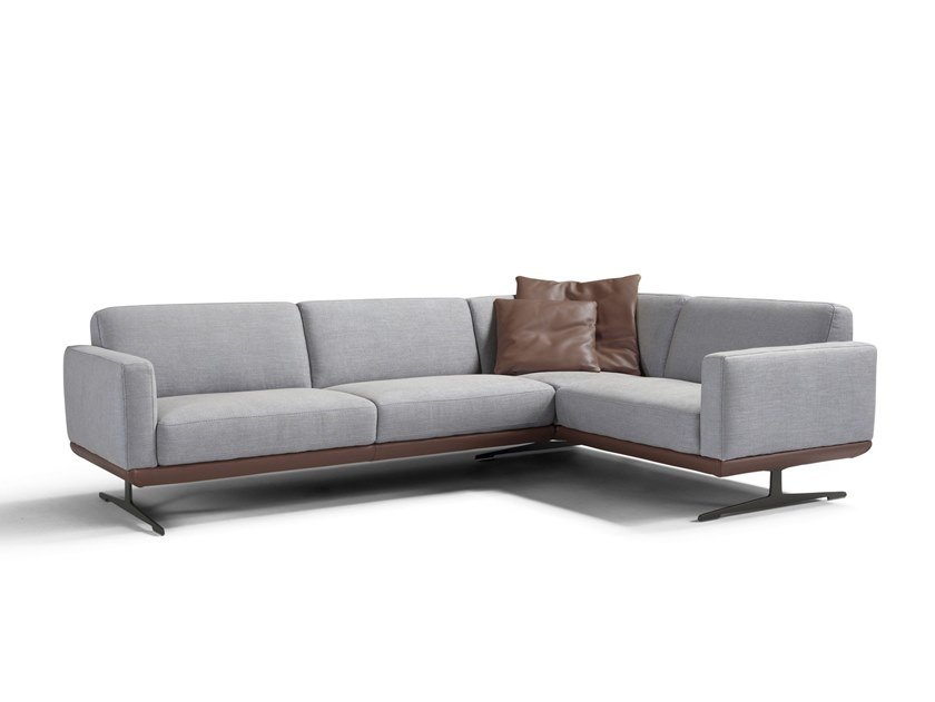 Corner Fabric Sofa Gloria Slim By Egoitaliano