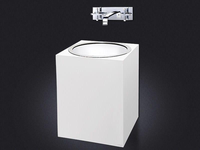 Wall-mounted resin washbasin GLOSS | Resin washbasin by Vallvé
