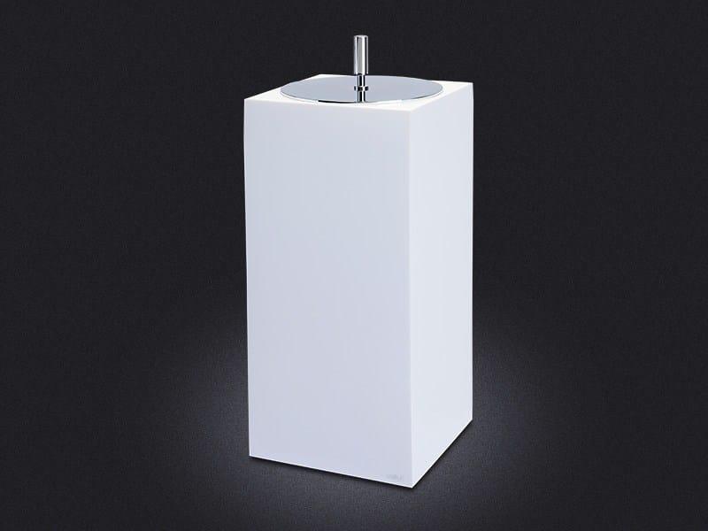 Resin bathroom waste bin GLOSS SMALL | Bathroom waste bin by Vallvé