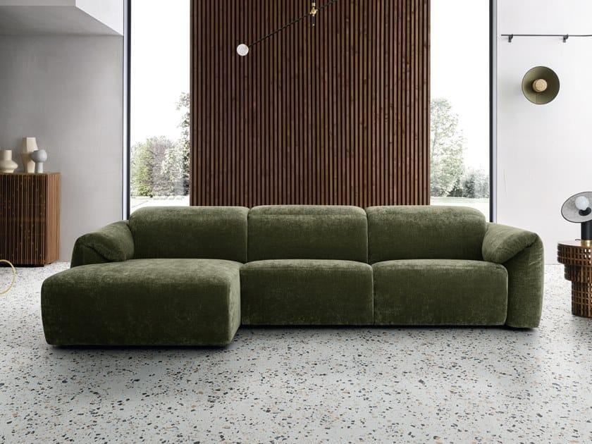 Divano relax in tessuto a 3 posti con chaise longue GLOVE | Divano con chaise longue by Felis