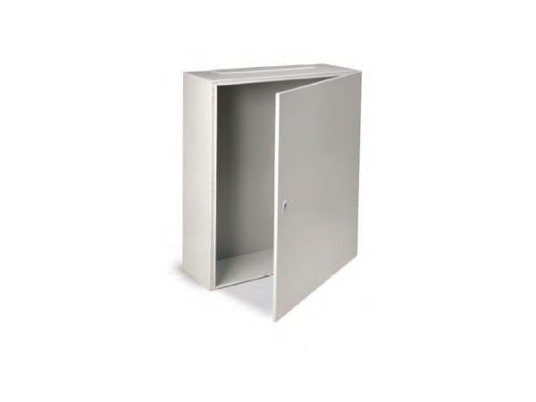 Metal enclosure cabinet ENCL IP65 1000X600X250 C/W BASE PLAT by Garo