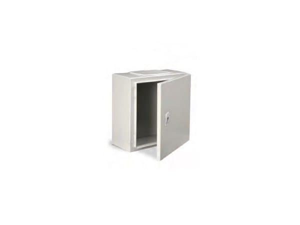 Metal enclosure cabinet ENCL IP65 400X300X150 C/W BASE PLAT by Garo