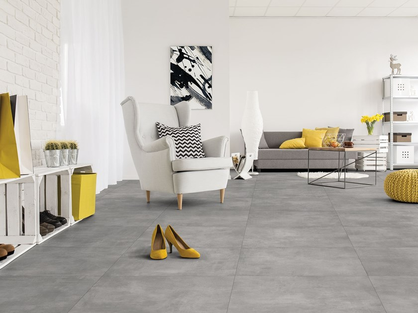 Porcelain wall/floor tiles with concrete effect GO by ITT Ceramic