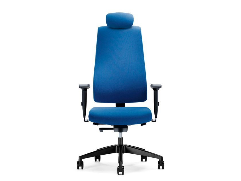 Height-adjustable swivel fabric executive chair with headrest GOAL 322G by Interstuhl