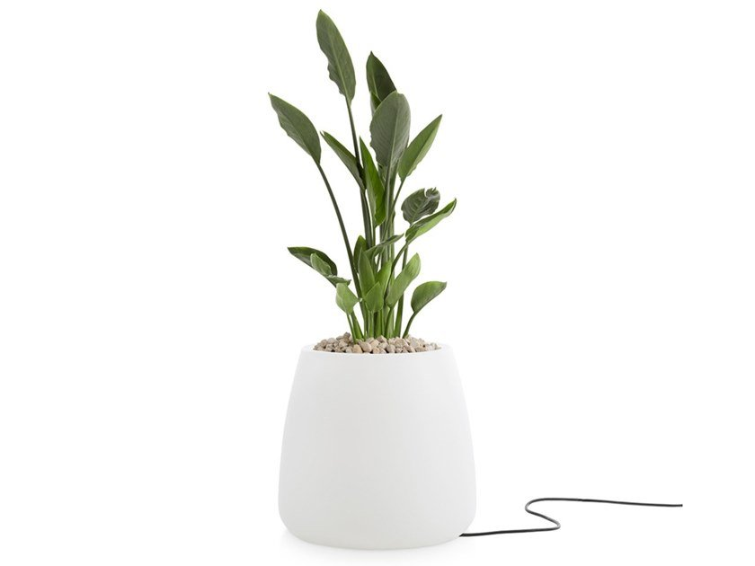 Vaso da giardino luminoso in plastica GOBI 1 | Vaso da giardino luminoso by Diabla