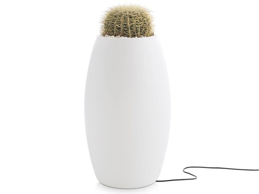 High garden vase GOBI 2 | Garden vase with Light by Diabla
