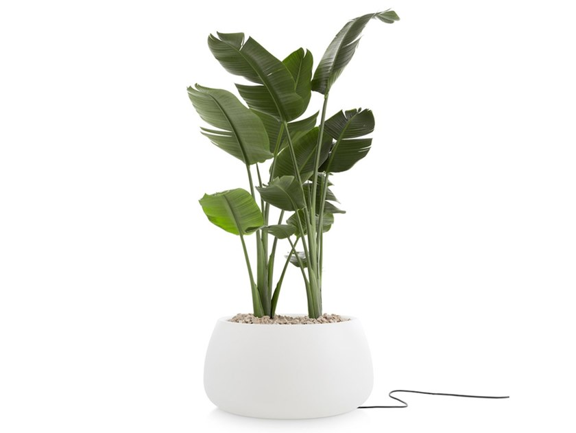 Plastic garden vase with Light GOBI 3   Garden vase with Light by Diabla