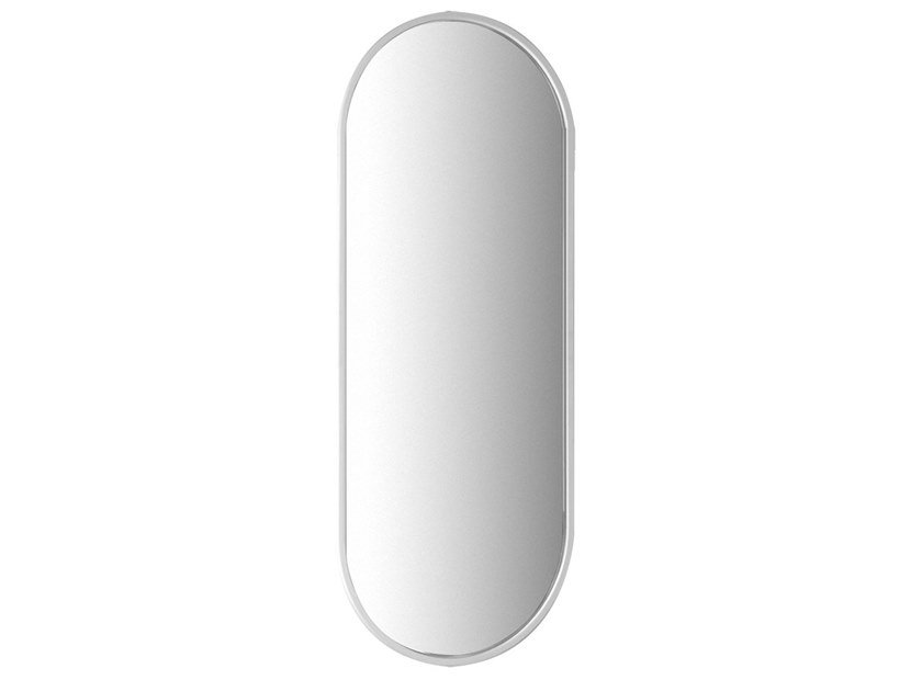 Oval framed wall-mounted resin mirror GOCCIA | Wall-mounted mirror by Gessi