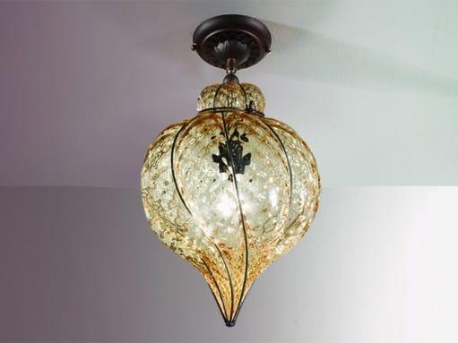 Murano glass ceiling lamp GOCCIA MC 111 by Siru