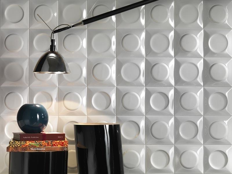 White-paste 3D Wall Cladding GOCCIA WHITE by LEA CERAMICHE