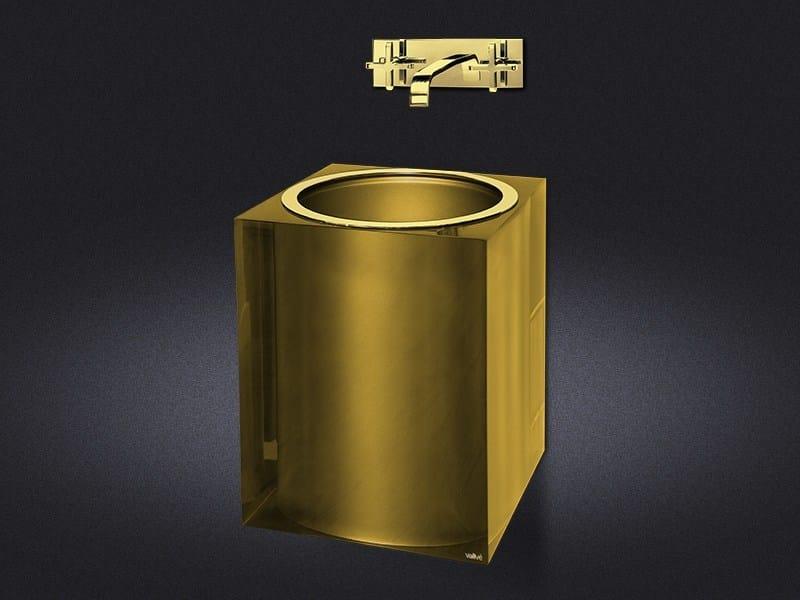 Wall-mounted resin washbasin GOLD GLOSS | Washbasin by Vallvé