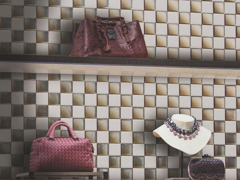 Mosaico in poliuretano per interni ed esterni GOLD & IVORY by MyMosaic