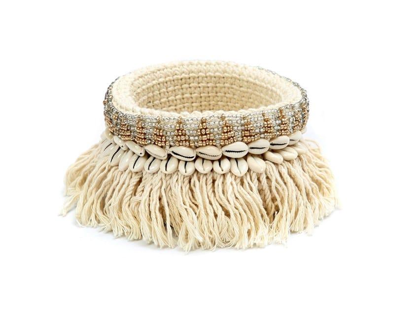 Cotton basket GOLD & SILVER by Bazar Bizar