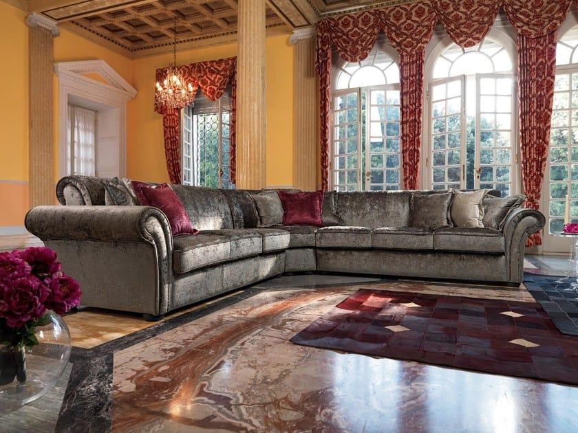 Corner fabric sofa GOLDEN   Corner sofa by Domingo Salotti