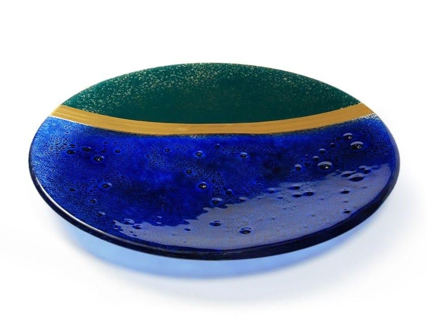 Glass bowl GOLDEN RATIO GREEN by Baranska Design