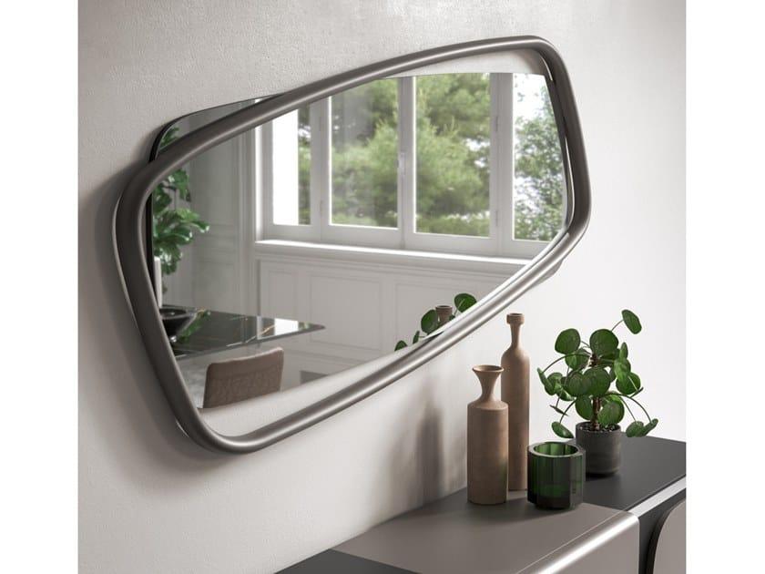 Rectangular wall-mounted mirror GOLDEN WOOD by Ozzio Italia
